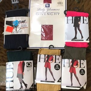 6 pairs of tights various colors sizes 2,3,C & E